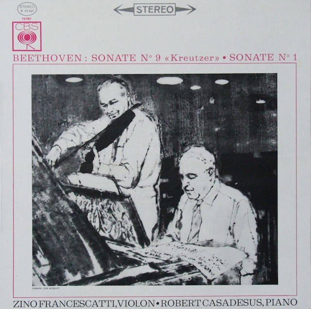 フランチェスカッティ&カサドシュのベートーヴェン/「クロイツェル」 仏CBS 2819 LP レコード