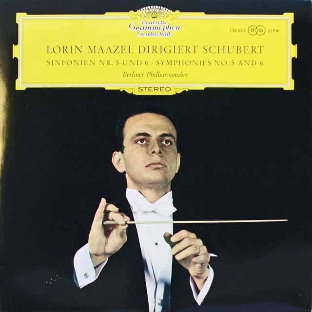 マゼールのシューベルト/交響曲第5、6番 独DGG 3314 LP レコード