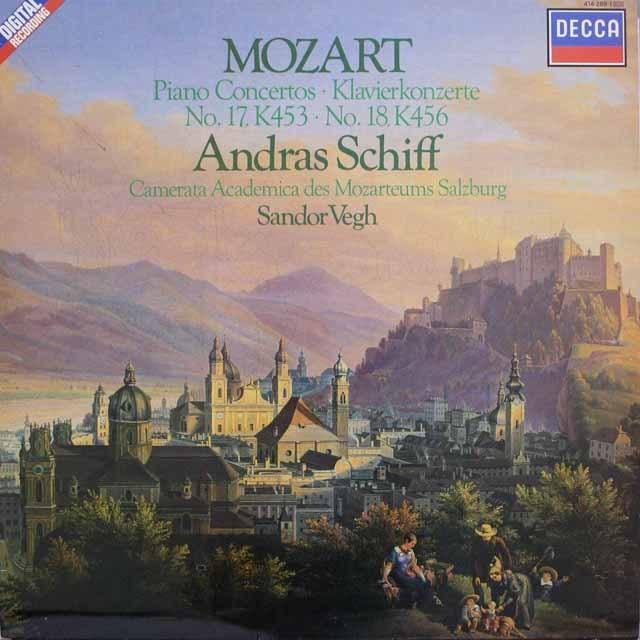 シフのモーツァルト/ピアノ協奏曲第17、18番 蘭DECCA 3314 LP レコード