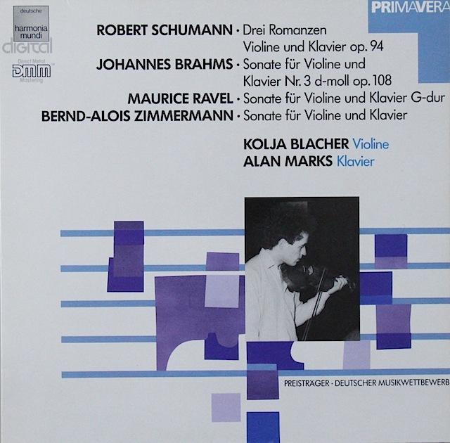 ブラッハーのブラームス/ヴァイオリンソナタ第3番 独HM 3297 LP レコード