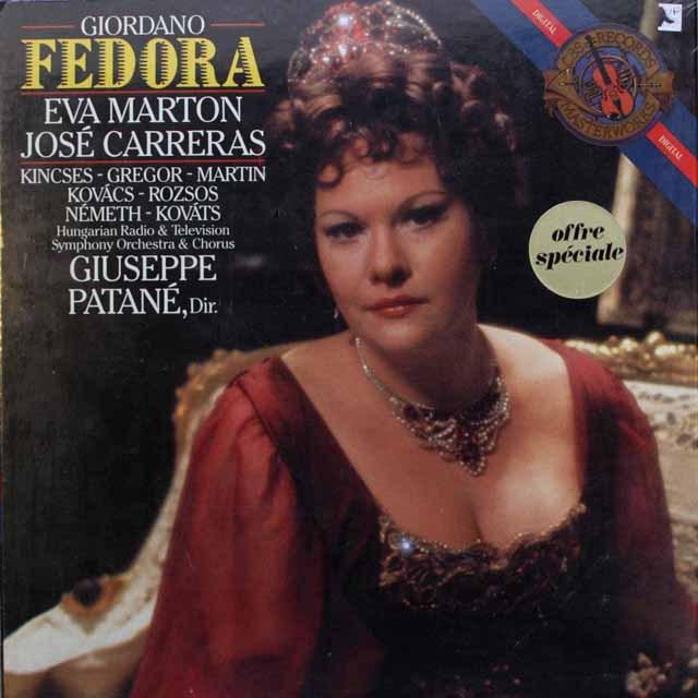 【未開封】 カレーラス&マルトンのジョルダーノ/「フェドーラ」 蘭CBS 2546 LP レコード