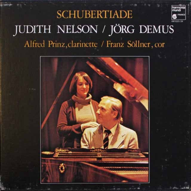ネルソン、デームスの「シューベルティアーデ」 仏HM 3313 LP レコード