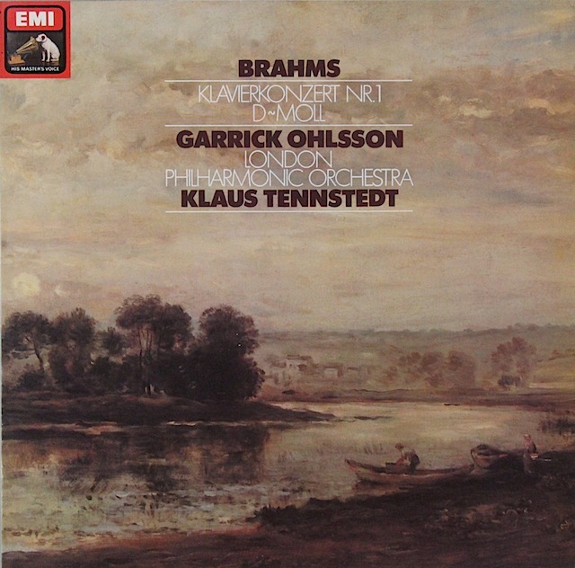 オールソン&テンシュテットのブラームス/ピアノ協奏曲第1番 独EMI 2819 LP レコード