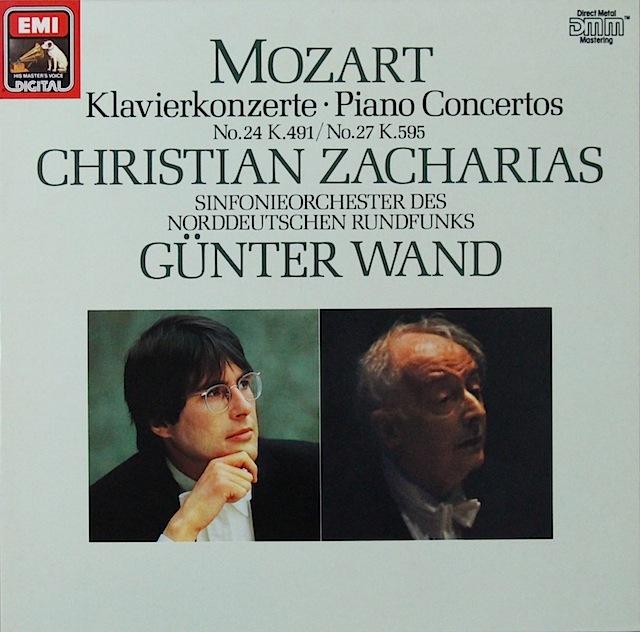 ツァハリアス&ヴァントのモーツァルト/ピアノ協奏曲第24&27番 独EMI 2819 LP レコード
