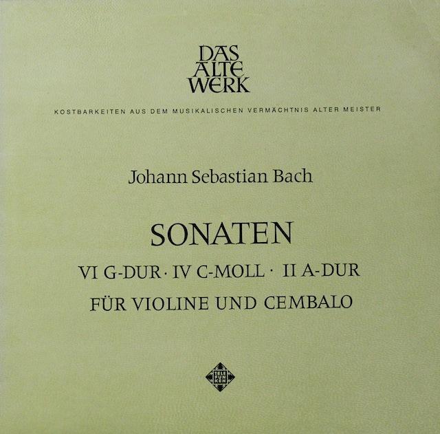 フリュデーン&レオンハルトのバッハ/ヴァイオリンとチェンバロのためのソナタ集 独TELEFUNKEN 2819 LP レコード