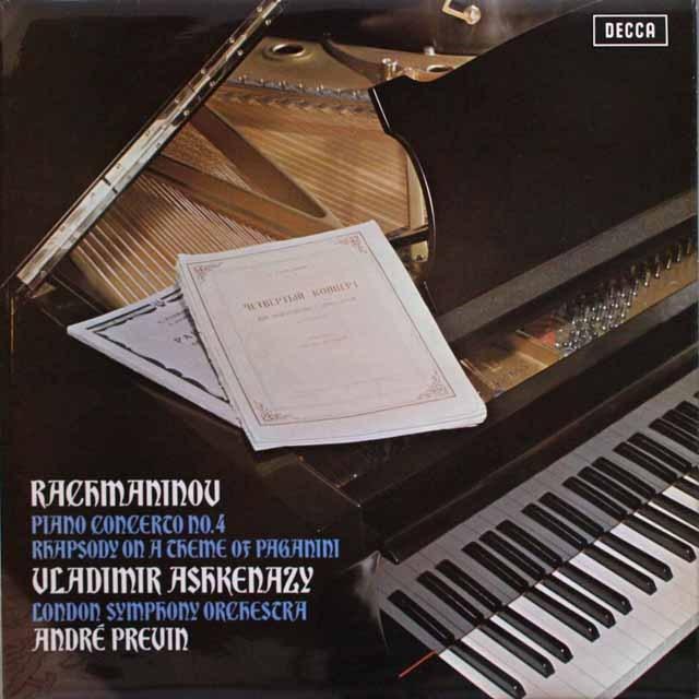 【オリジナル盤】 アシュケナージ&プレヴィンのラフマニノフ/ピアノ協奏曲第4番ほか 英DECCA 3313 LP レコード