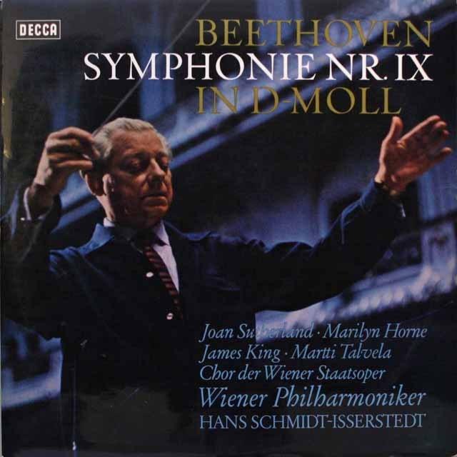 イッセルシュテットのベートーヴェン/交響曲第9番 独DECCA 3313 LP レコード