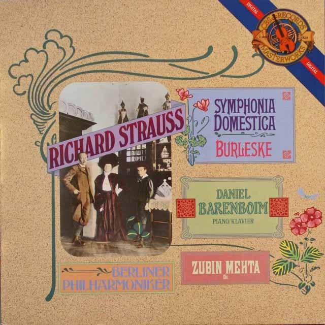 メータのR.シュトラウス/「家庭交響曲」 蘭CBS 3313 LP レコード