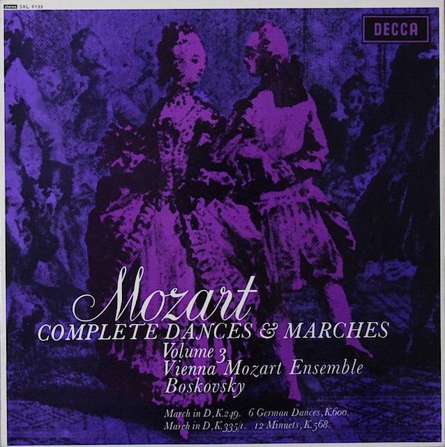 ボスコフスキーのモーツァルト/「舞曲と行進曲全集」(3) 英DECCA 3297 LP レコード
