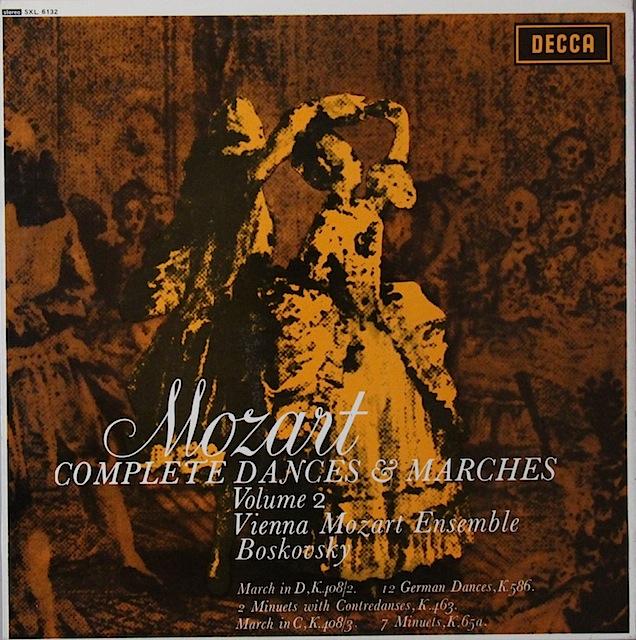 ボスコフスキーのモーツァルト/「舞曲と行進曲全集」(2) 英DECCA 3297 LP レコード