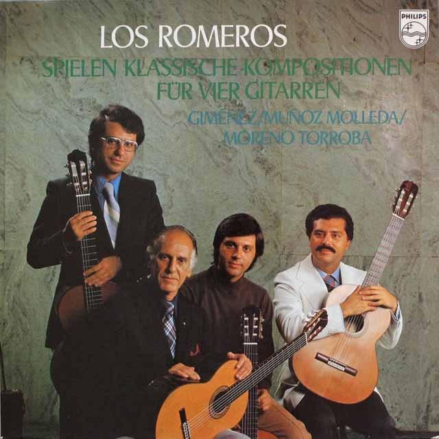 ロス・ロメロスの「4つのギターのための作品集」 蘭PHILIPS 3313 LP レコード