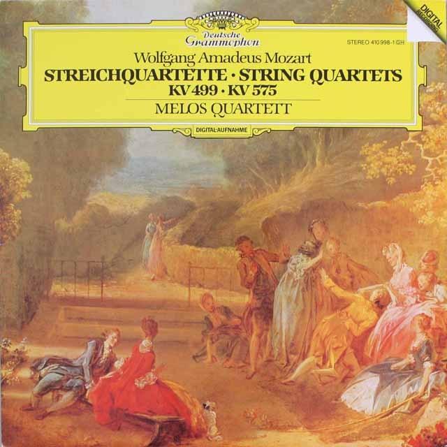 メロス四重奏団のモーツァルト/弦楽四重奏曲第20、21番 独DGG 3316 LP レコード