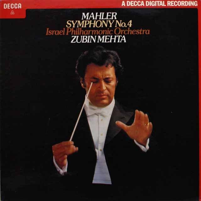 メータのマーラー/交響曲第4番 英DECCA 3316 LP レコード