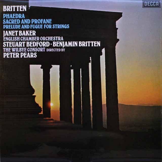 【オリジナル盤】 ブリテンの自作自演/「フィードラ」ほか 英DECCA 3317 LP レコード