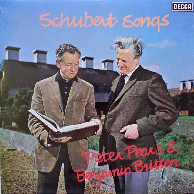 【オリジナル盤】 ピアーズ、ブリテンのシューベルト/歌曲集 英DECCA 3317 LP レコード