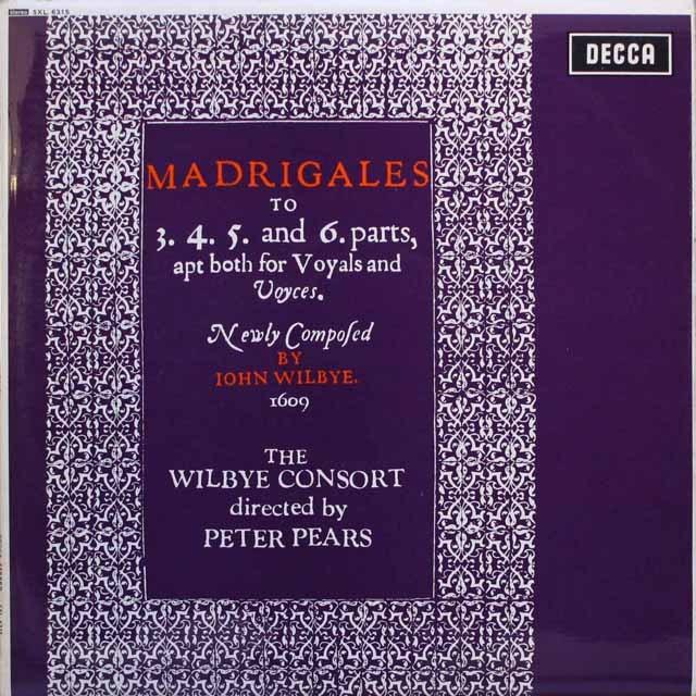 ピアーズらのウィルビー/「マドリガル集」 英DECCA 3317 LP レコード