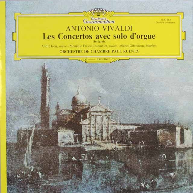 ケンツのヴィヴァルディ/オルガンを伴う協奏曲集   仏DGG   2549 LP レコード
