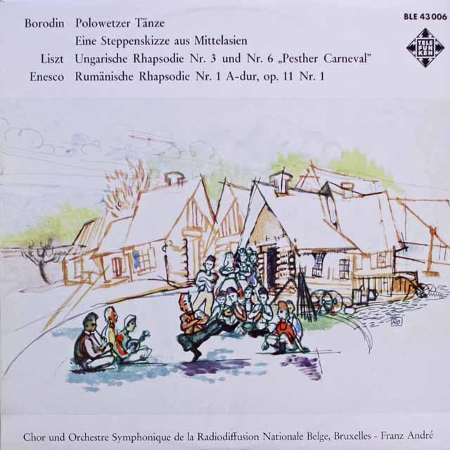 アンドレのボロディン/「ダッタン人の踊り」ほか 独telefunken 3317 LP レコード