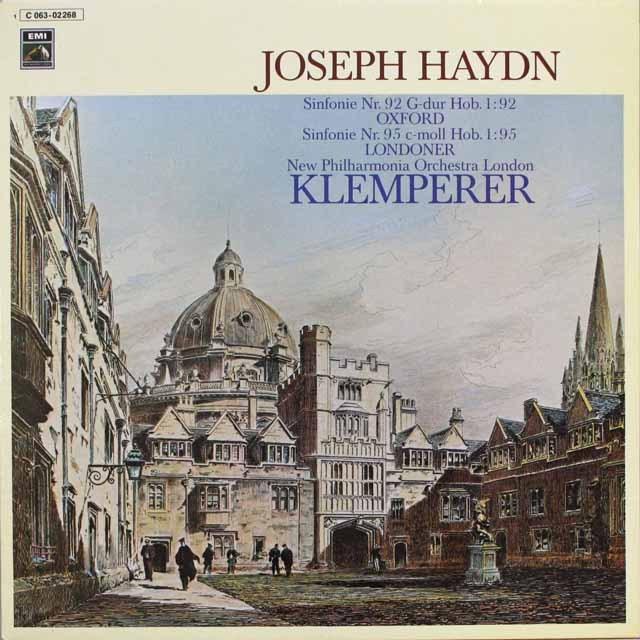 クレンペラーのハイドン/交響曲第92番「オックスフォード」、第95番 独EMI 3315 LP レコード