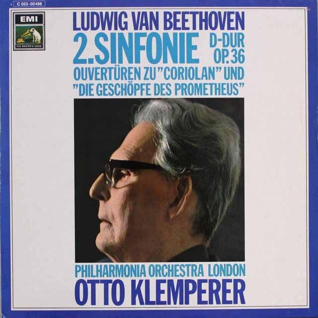 クレンペラーのベートーヴェン/交響曲第2番ほか 独EMI 3315 LP レコード