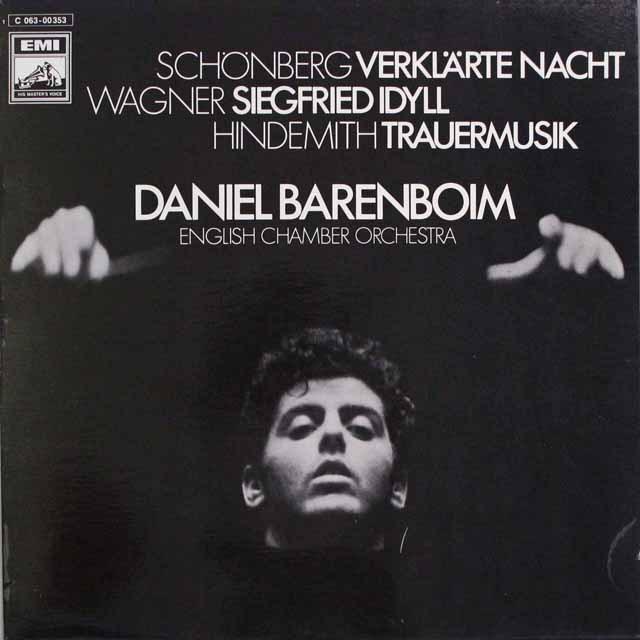 バレンボイムのシェーンベルク/「浄夜」ほか 独EMI 3315 LP レコード