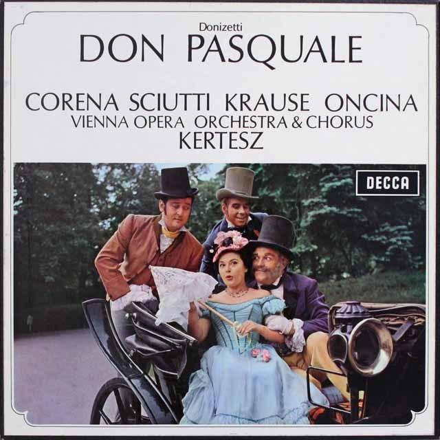 ケルテスのドニゼッティ/「ドン・パスクヮーレ」 英DECCA 3315 LP レコード