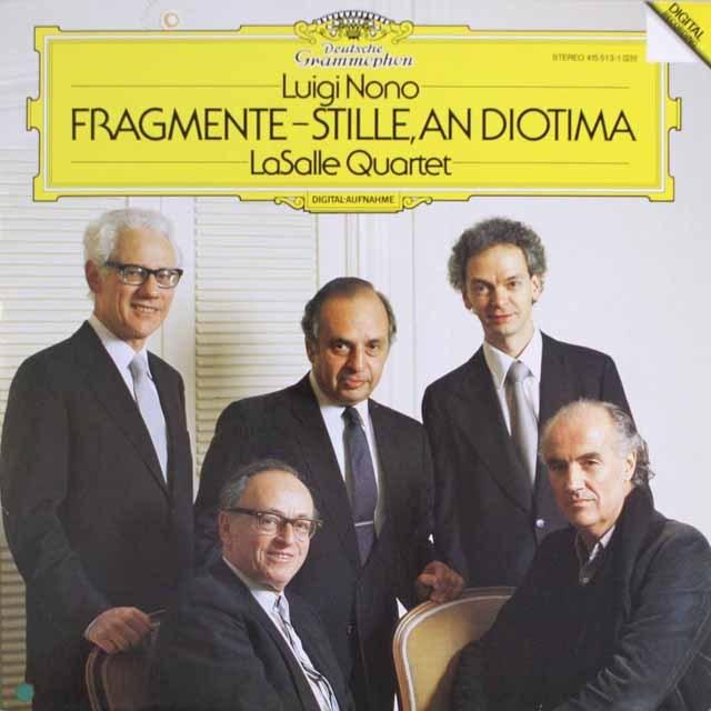 ラサール四重奏団のノーノ/弦楽四重奏のための「断片-静寂、ディオティーマへ」   独DGG   2547 LP レコード