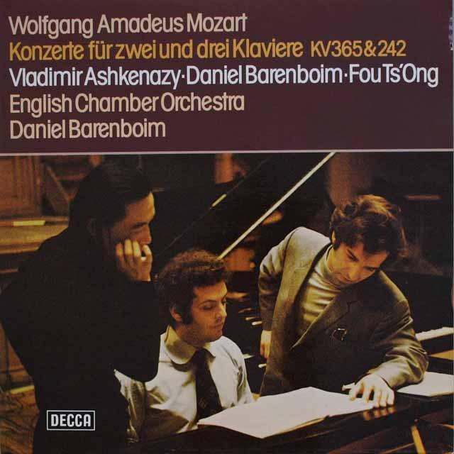 バレンボイム、アシュケナージらのモーツァルト/2台のピアノのための協奏曲ほか 独DECCA 3317 LP レコード