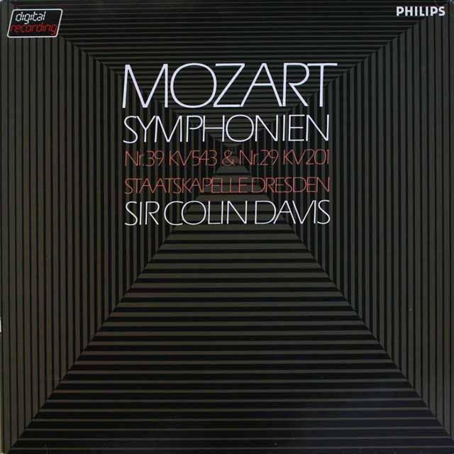 デイヴィスのモーツァルト/交響曲第39、29番 蘭PHILIPS 3317 LP レコード