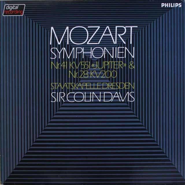 デイヴィスのモーツァルト/交響曲第41番「ジュピター」、第28番 蘭PHILIPS 3317 LP レコード