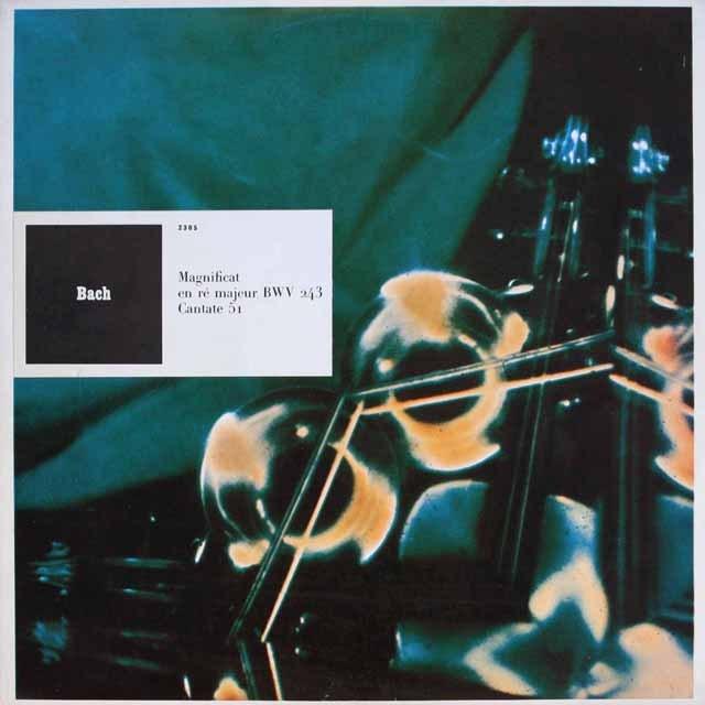 リステンパルトのバッハ/マニフィカトほか  仏CF   2551 LP レコード