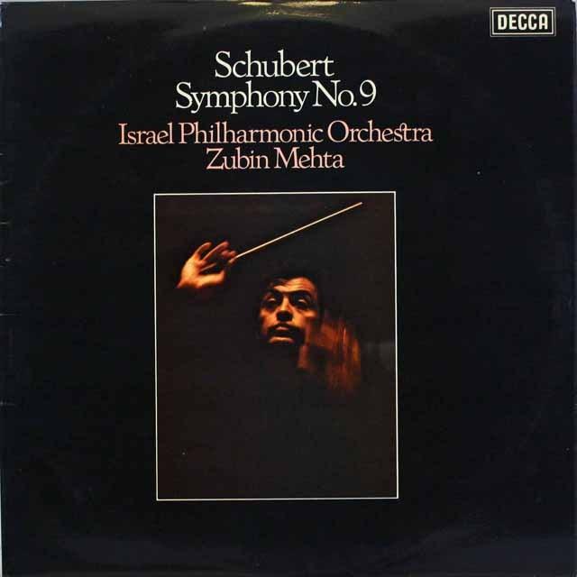 【オリジナル盤】 メータのシューベルト/交響曲第9番「グレイト」 英DECCA 3318 LP レコード