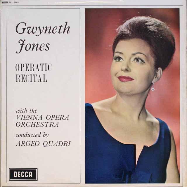 【オリジナル盤】 ジョーンズ/オペラリサイタル 英DECCA 3318 LP レコード