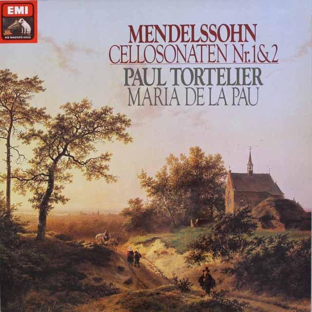 トルトゥリエのメンデルスゾーン/チェロソナタ集 独EMI   2551 LP レコード