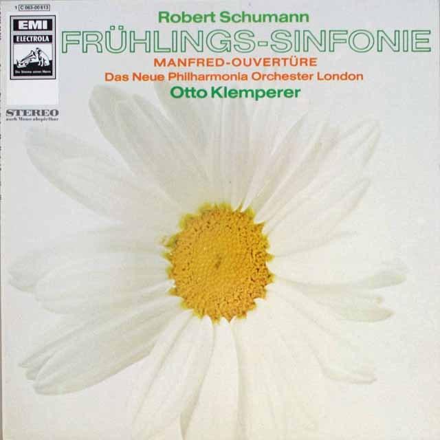 クレンペラーのシューマン/交響曲第1番 独EMI 3319 LP レコード