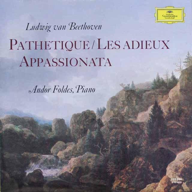 フォルデスのベートーヴェン/「悲愴」「告別」&「熱情」  独DGG  2607 LP レコード