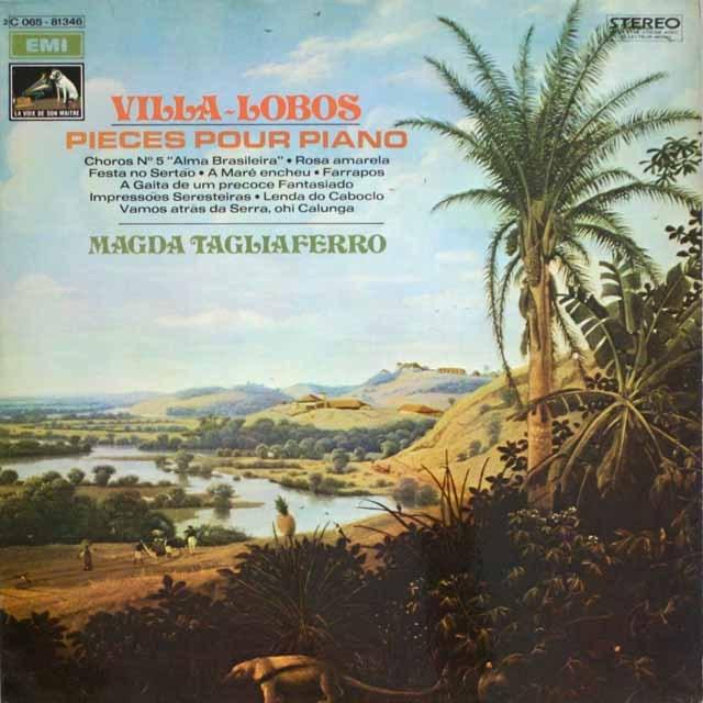 タリアフェロのヴィラ=ロボス/作品集 仏EMI(VSM) 3326 LP レコード