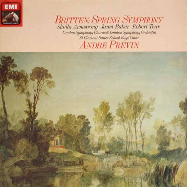プレヴィンのブリテン/「春の交響曲」  独EMI   3320 LP レコード