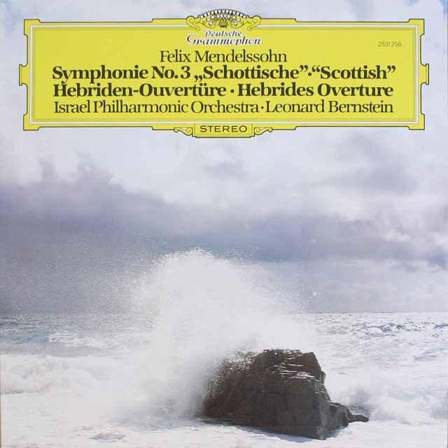 バーンスタインのメンデルスゾーン/交響曲第3番「スコットランド」 独DGG 3320 LP レコード