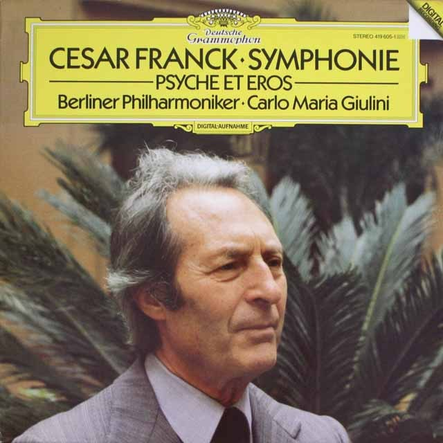 ジュリーニのフランク/交響曲ほか 独DGG 3320 LP レコード