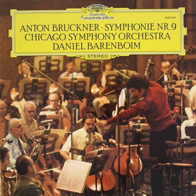 バレンボイムのブルックナー/交響曲第9番 独DGG 3320 LP レコード