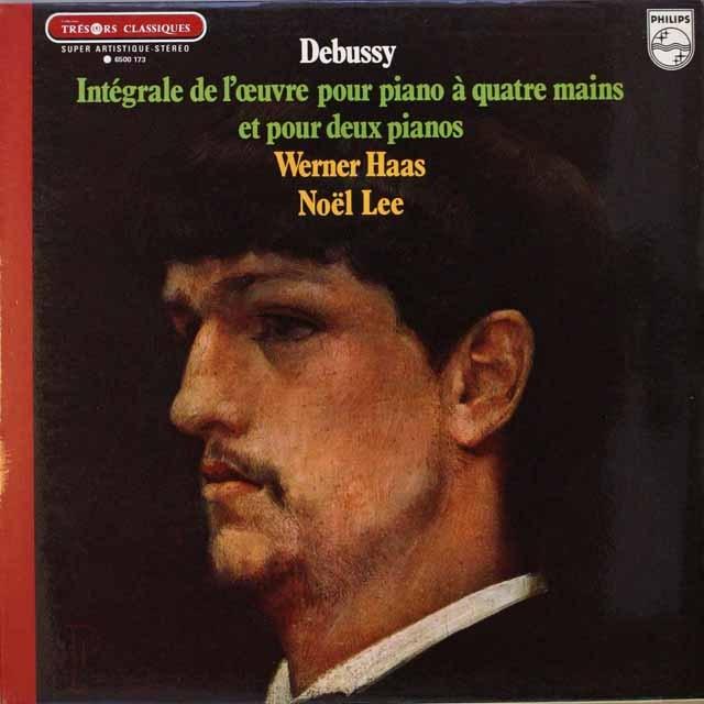 ハースのドビュッシー/2台のピアノのための作品集 仏PHILIPS 3320 LP レコード