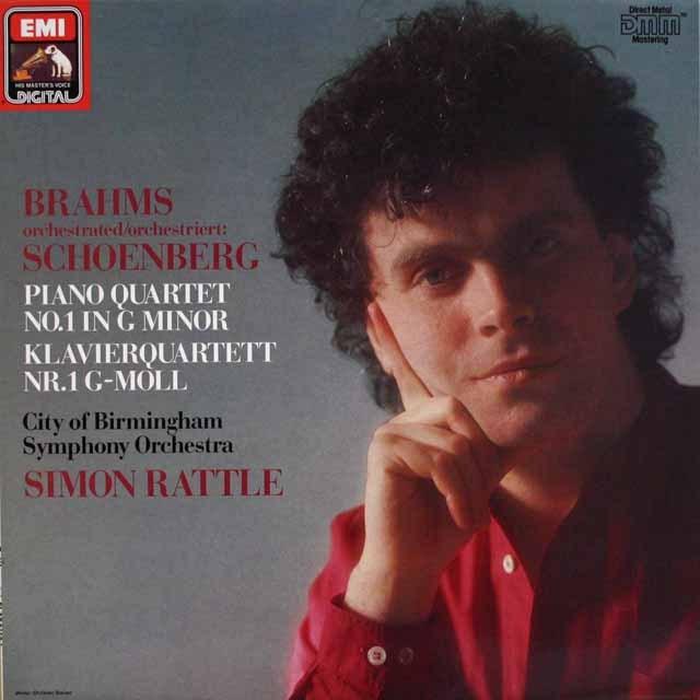 ラトルのブラームス/ピアノ四重奏曲(管弦楽編曲版) 独EMI  2601 LP レコード
