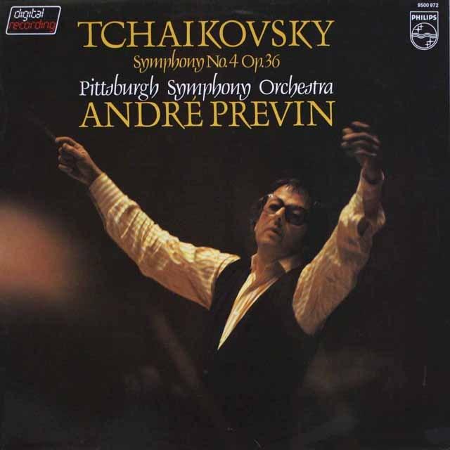 プレヴィンのチャイコフスキー/交響曲第4番 蘭PHILIPS 3326 LP レコード