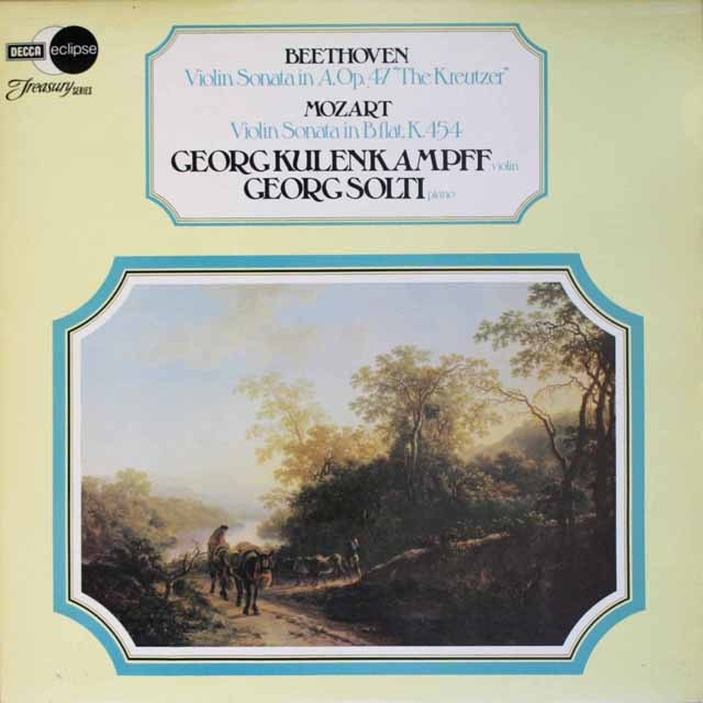 クレーンカンプ&ショルティのヴァイオリンソナタ集 英DECCA 3327 LP レコード