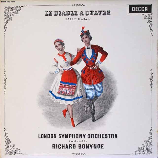 【オリジナル盤】 ボニングのアダン/バレエ音楽「4人の悪魔」 英DECCA 3327 LP レコード