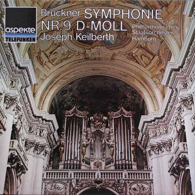 カイルベルトのブルックナー/交響曲第9番 独telefunken 3327 LP レコード