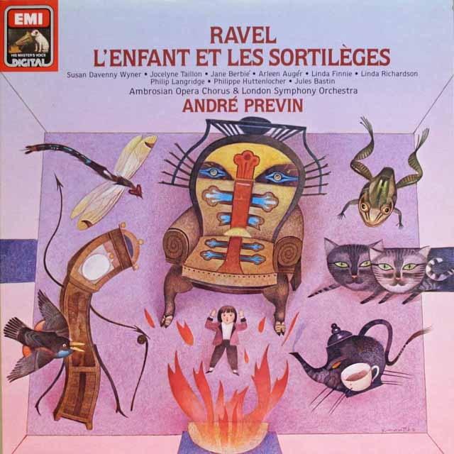 プレヴィンのラヴェル/子供と魔法 独EMI 3327 LP レコード