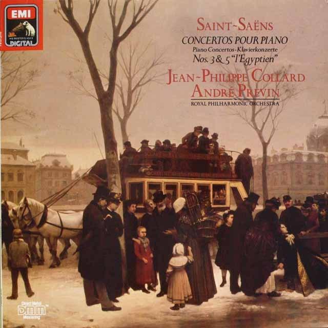 コラール、プレヴィンのサン=サーンス/ピアノ協奏曲第3、5番「エジプト風」 独EMI 3327 LP レコード