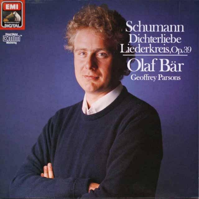 ベーアのシューマン/リーダークライスほか 独EMI 3327 LP レコード